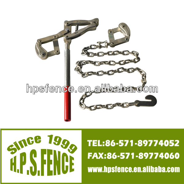 (China fencing supplies)high tensile with1.2m Galvanised electric fencing strainer chain grab tensioner of farm tools name