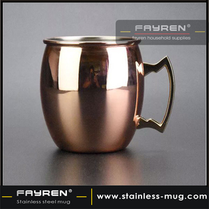 Double wall stainless steel copper beer mug