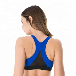 Sexy girls nude seamless racerback 3x gym wear active sports bra with removable cups