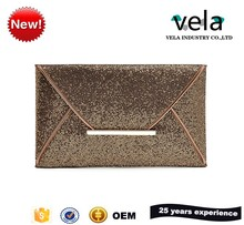 Fancy Design Gold Sequin Ladies Party Envelope Clutch In Evening Bags