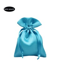 Wholesale custom eco-friendly colorful satin eyelash wedding bag silk candy gift pouch for party X'mas