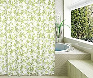 Eforgift Ivy Floral Pattern Waterproof And Non Mildew Shower Curtains Polyester Fabric Bathroom