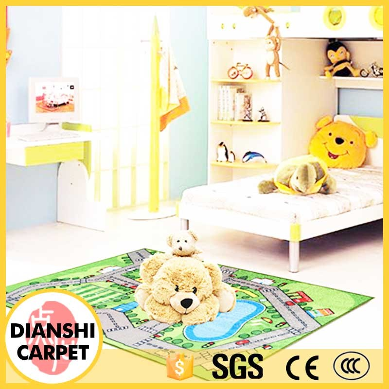 Cheap Price Unique Style Woven Printing Polyester Kids Room Play Mat