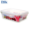 FDA Certificate rectangular tableware frozen glass container with lid