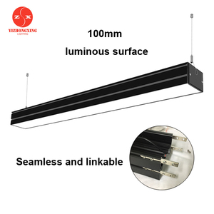 100mm luminous surface 100-277V 20W SMD2835 600mm 2ft LED Suspended Linear Light for shipping mall 10064 aluminum profile
