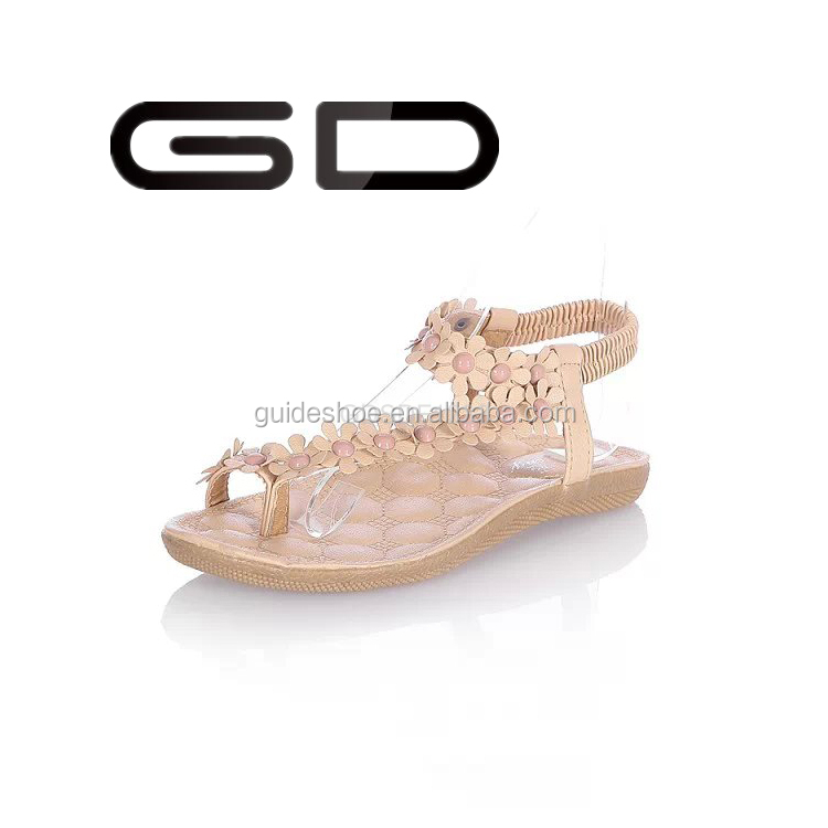 2015 nice little girls nude kito beach flowers sandals