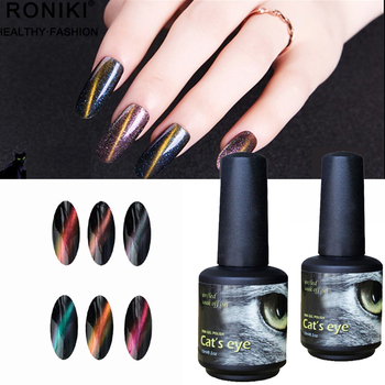 Roniki High Gloss Bright Color Strong Pigment Magnetic 5d Cat Eye Color Gel  Nail Polish - Buy Cat Eye Color Gel Nail Polish,Uv Gel Gel Nail Polish,Cat  ...