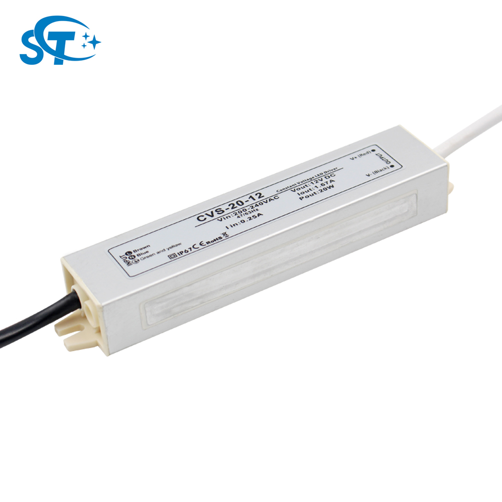 Constant voltage ac dc frequency converter, waterproof ip67 led lights power supply