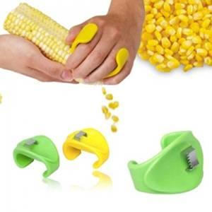 Creative Household Kitchen Necessities Planing Corn Maize Peeling Knife Stripping Device Maize Corn Stripper Corn Threshing Machine-color Random