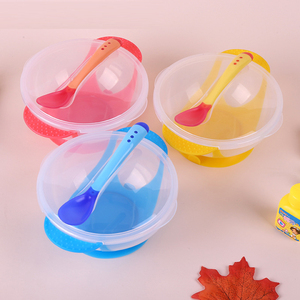 Mother Assistant Amazon Hot Sale PP Plastic Heat Sensitive Hot TEMP Changing Color Infant Spoon Fork And Tableware