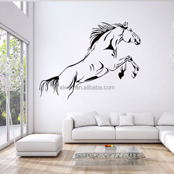 4146 The Galloping Horse Wall Decals Custom Digital Print Clear Window  Decals Gold Horse Graphic Stickers
