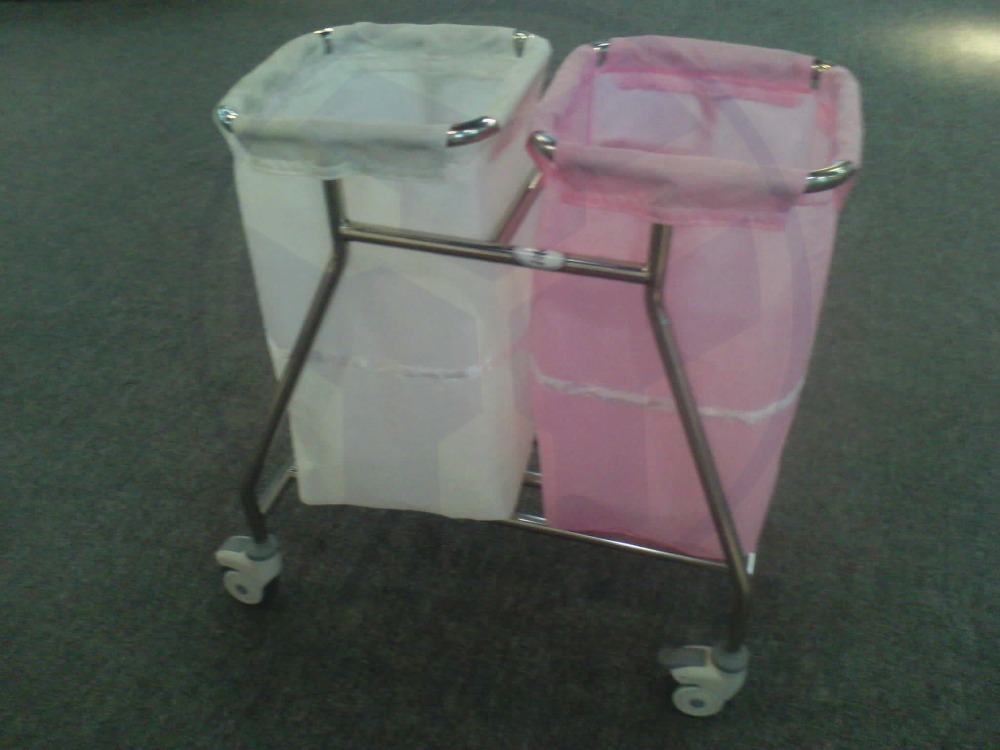 YFN-012 Stainless Steel Hospital Cleaning Waste Trolley