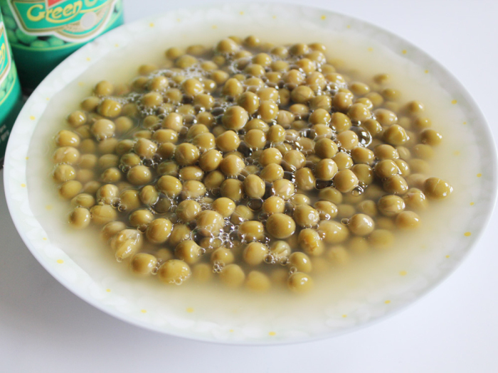 Canned Green Peas Tinned food