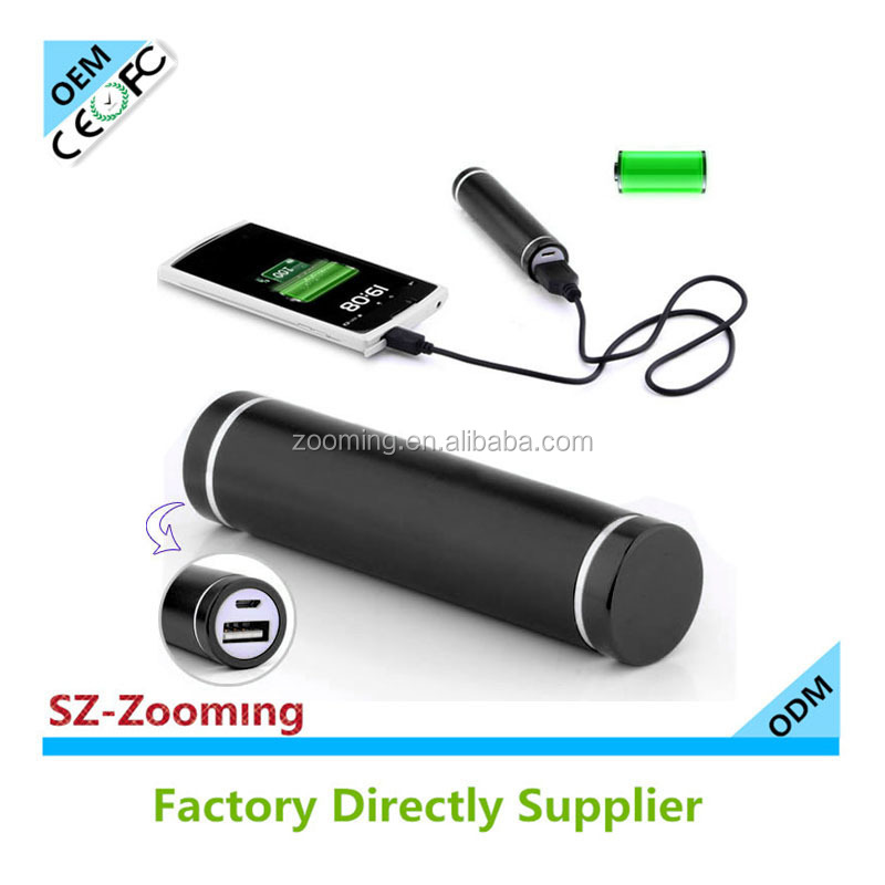 Z-201 cherry mobile power bank18650 portable charger lipstick 2600mah manual for power bank