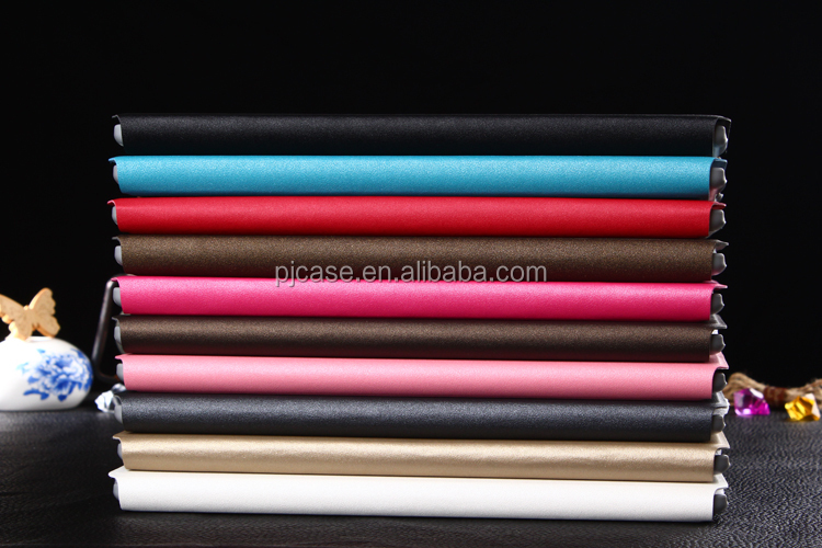 Stock small MOQ Hot selling new arrival Golden sand Multi-stand leather case for Apple ipad 2 ipad 3 ipad4 tablet leather case