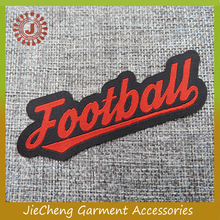 cheap custom design clothing sport wear stitched badges garment patch