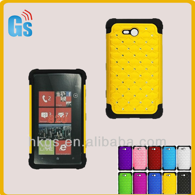 Bling Bling Rhinestone Case for Nokia Lumia n820, Guangzhou Mobile Phone Accessories