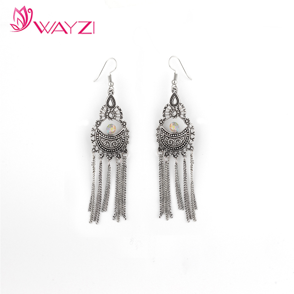 2017 new design fringe earrings