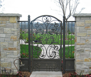 Buy to receive exterior wrought iron pedestrian gate before Christmas!