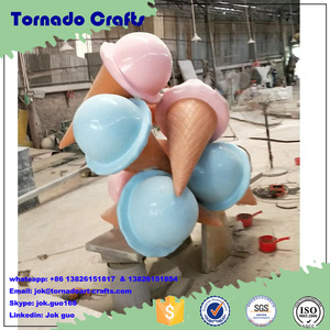 2017 Ice Cream Table And Chairs Fiberglass Sculpture For Theme Park