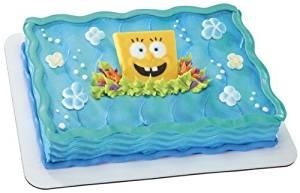 Spongebob Squarepants Sea Flowers Edible Decoset ~ Designer Cake Topper ~ NEW!!!!!