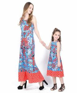 Mother and Daughter Dress Casual Floral Flower Mommy&Me Matching Set Outfits