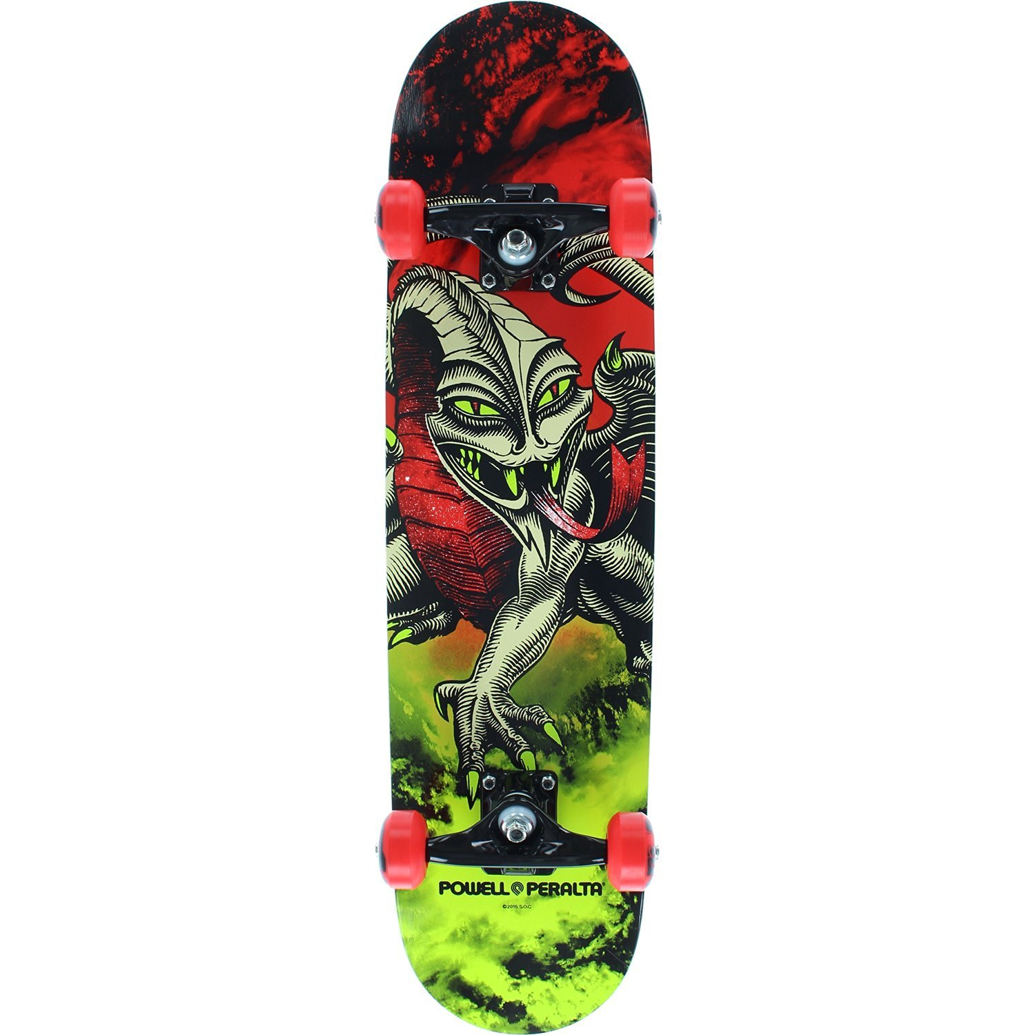 Powell Peralta Cab Dragon Complete Skateboard -7.75 Storm Red/Lime