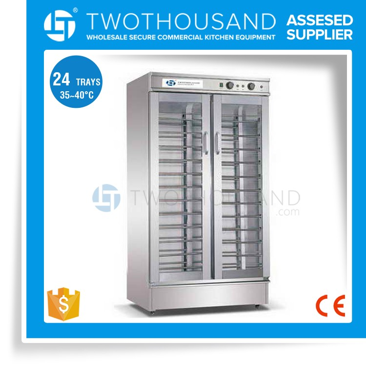 2 Doors 24 Trays, 35-40 'C, All S/S, with Foaming for Convection Oven Bakery Proofer