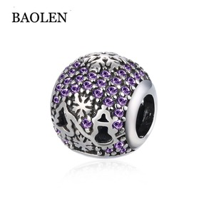 European And American Fashion Jewelry 925 Sterling Silver Diamante Series Cat Face Purple Accessories Jewelry Wholesalers