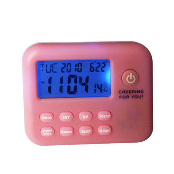 Multi-function unique blue backlight electronic kitchen timer