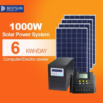 buy complete set 2kw 1kw solar electricity systems generators for art museum