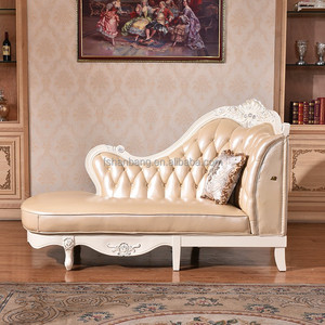 Classic Elegant Luxury Antique French Baroque Bedroom Chaise Lounge