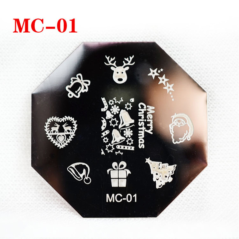 2017 New Nail Art Stamping Plates Christmas Xmas Mc01-02 - Buy Nail ...