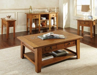 Drawer storage solid wood coffee table with competitive price