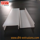 Polycarbonate White diffuser | led linear lamp plastic extruded covers | Extrusion lamp shades