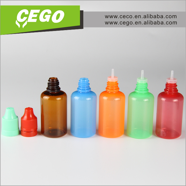 Wholesale pe unicorn dropper bottles 30ml 50ml 60ml 100ml 120ml with twist off cap for e- liquid