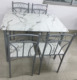 Faux marble dining furniture dining table set kitchen breakfast table set with 4 chairs wholesale