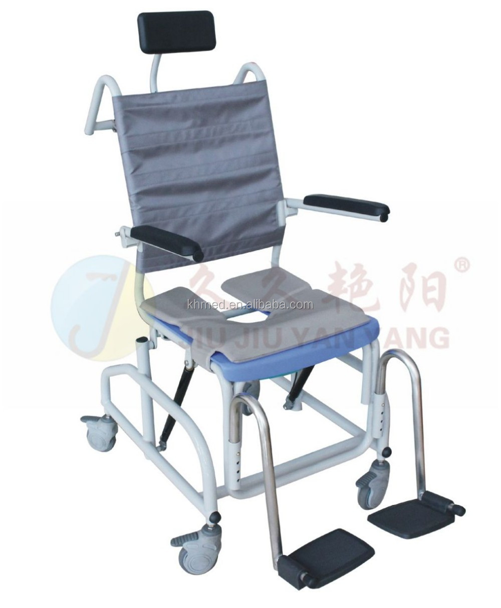 Jy-xzc-01 Multifunction Toilet Shower Chair With Wheels For Disabled ...