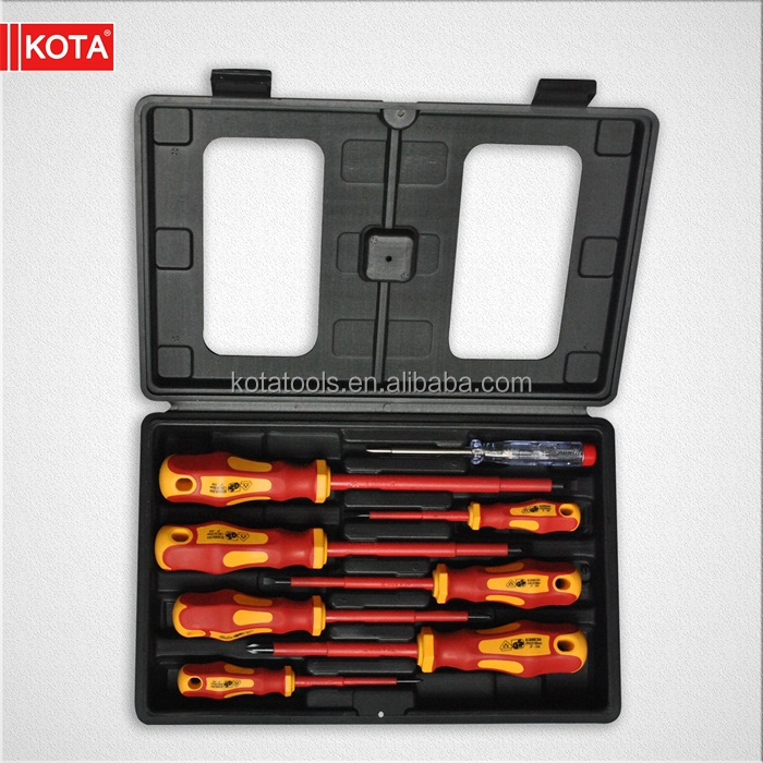 8pcs s2 steel electric insulated gs screw driver screwdriver set