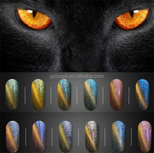 2017 new fashion magnet 3D cat eyes gel nail polish