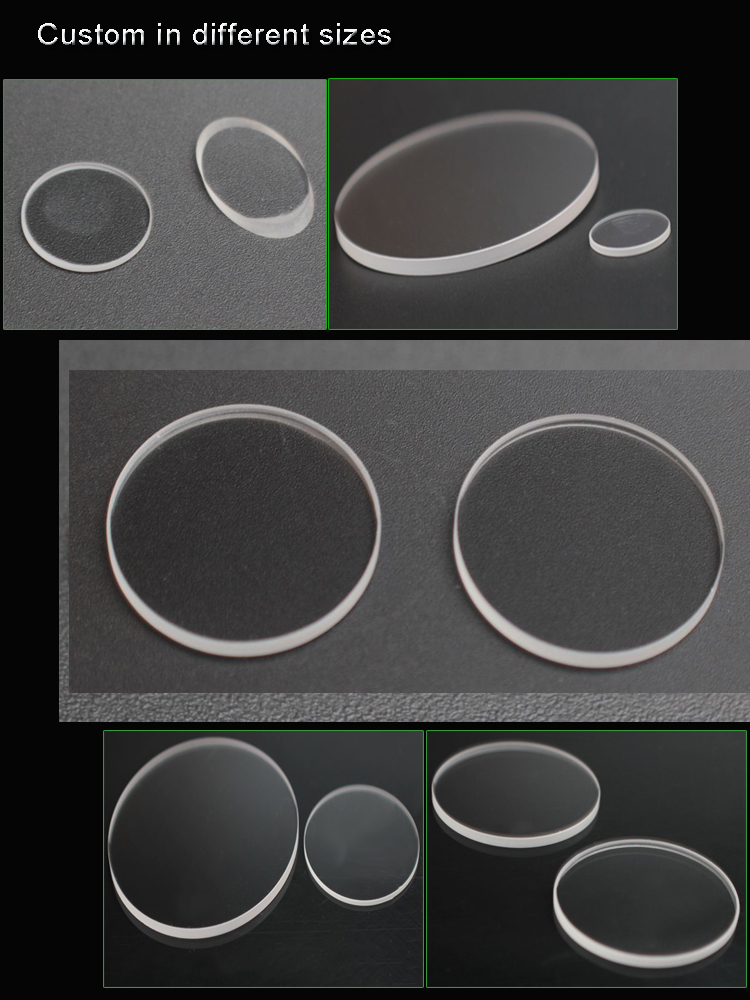 2mm thickness optical sapphire window lens