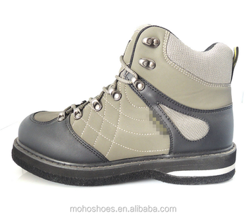 Fly fishing boot with spike ice fishing shoes fox for Fly fishing shoes