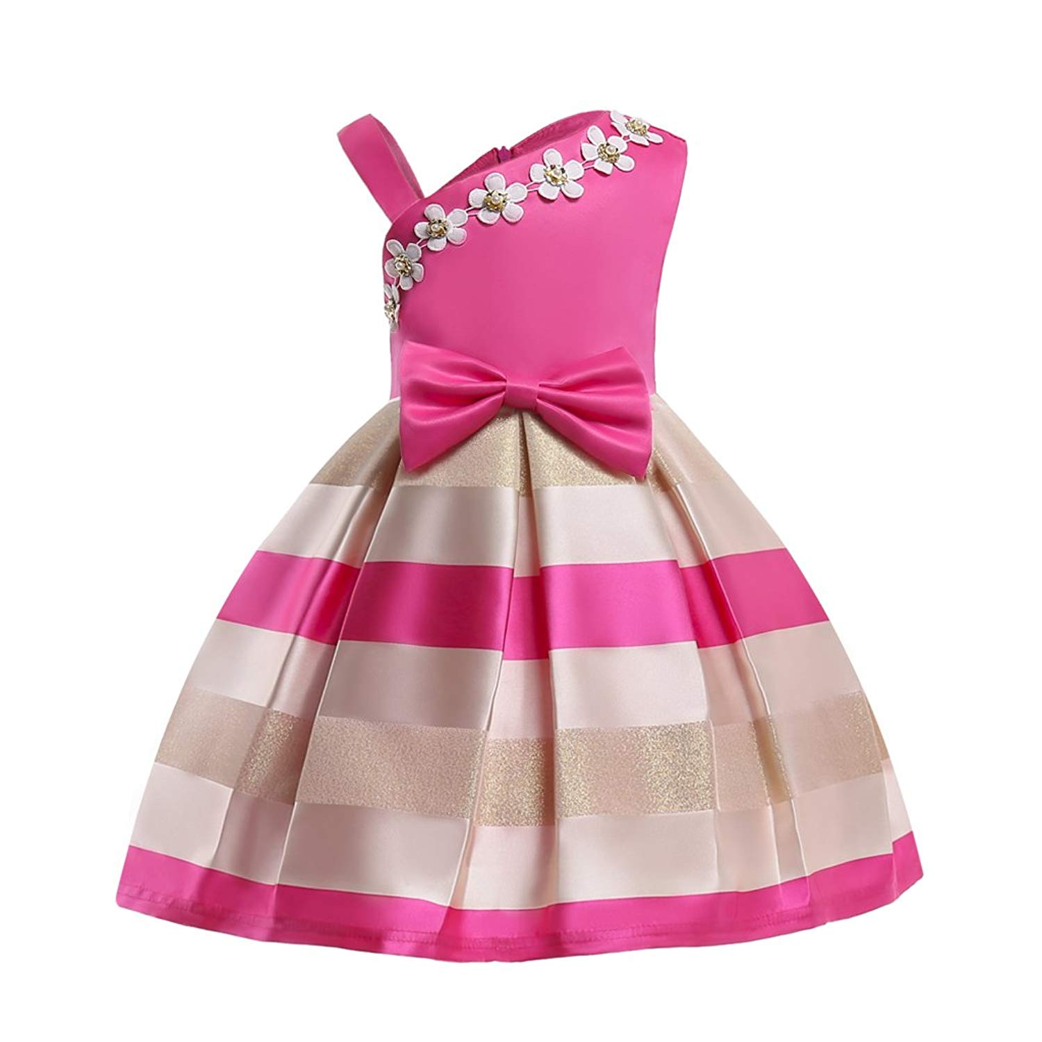 Cheap Black And White Striped Flower Girl Dress Find Black And