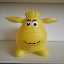 PVC inflatable jumping animal 1170g yellow jumping sheep for children