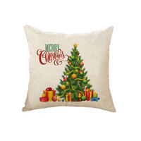China Supplier Merry Christmas Party 45*45cm Decorative Printed Linen Pillow Case