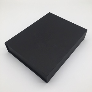 Magnetic closure A4 A3 C3 customized size folded box logo silver foil black matte card elegant boxes
