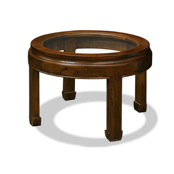 Ct 193 Clic Old Style Round Gl Top Teapoy Coffee Table