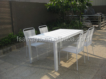 Stackable PVC Garden Chair And Table Rattan Wicker Restaurant Furniture