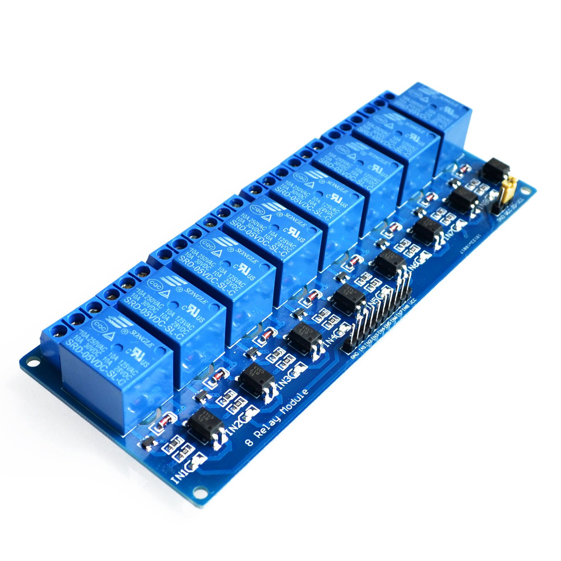 2pcs/lot With optocoupler 8 channel 8-channel relay modules relay control panel PLC relay 5V module