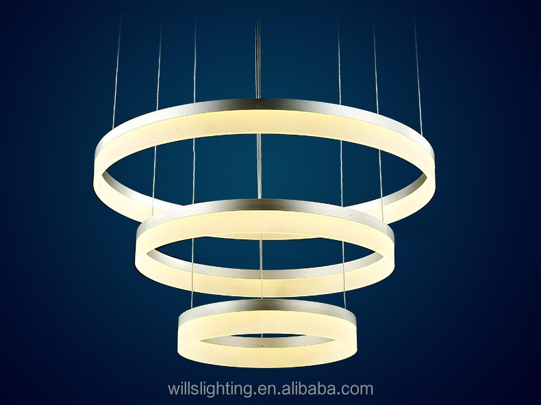 Indian Luxurious LED Light Acrylic Round Chandelier For Sale